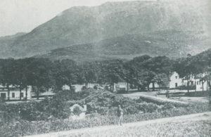 Sibastiaan Valentjin standing in the foregound of High Constantia in 1861